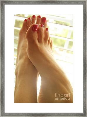 Beautiful Feet 2 Framed Print by Tos Photos