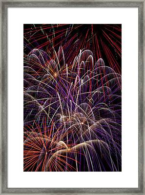 Beautiful Fireworks Framed Print