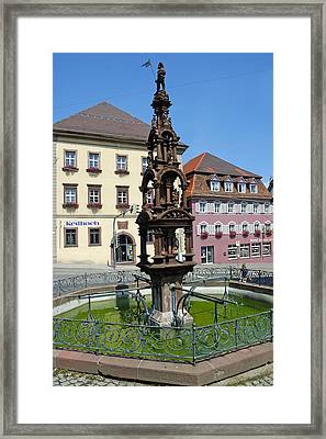 Beautiful Fountain Rottweil Germany Framed Print by Matthias Hauser