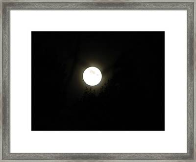Framed Print featuring the photograph Beautiful Full Moon by Ester  Rogers