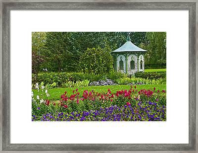 Beautiful Garden Framed Print by Cindy Haggerty