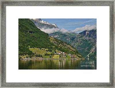 Beautiful Geiranger Norway Framed Print