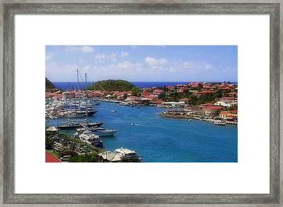 Beautiful Gustavia Framed Print by Karen Wiles