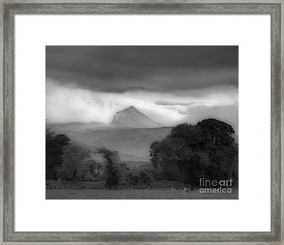 Beautiful Killarney Mountains Ireland Black And White Framed Print