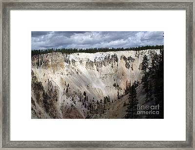 Framed Print featuring the photograph Beautiful Lighting On The Grand Canyon In Yellowstone by Living Color Photography Lorraine Lynch
