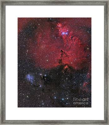 Beautiful Nebula In Monoceros Framed Print by John Davis