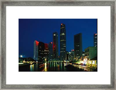 Beautiful Night Time View Framed Print by Nicole Duplaix