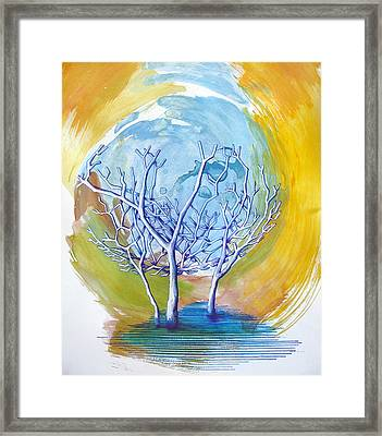Beautiful On Purpose Framed Print