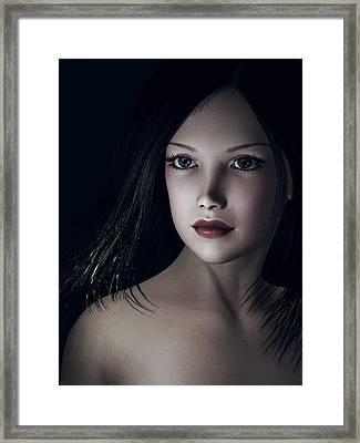 Framed Print featuring the digital art Beautiful Portrait by Maynard Ellis