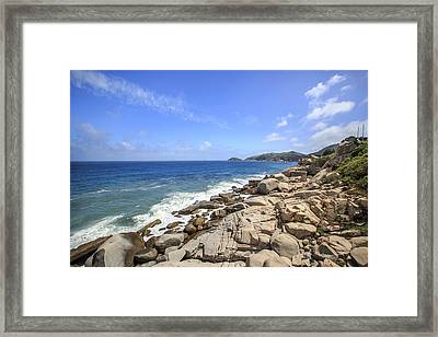 Beautiful Sea View Framed Print by 712