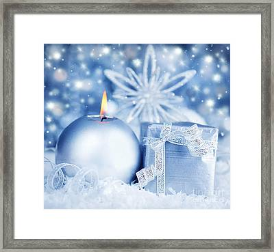 Beautiful Silver Gift Framed Print by Anna Om