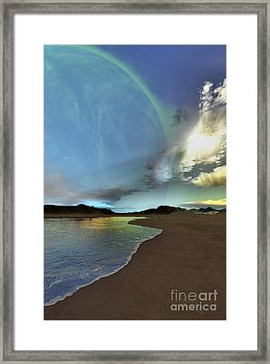Beautiful Skies Shine Down On This Framed Print by Corey Ford