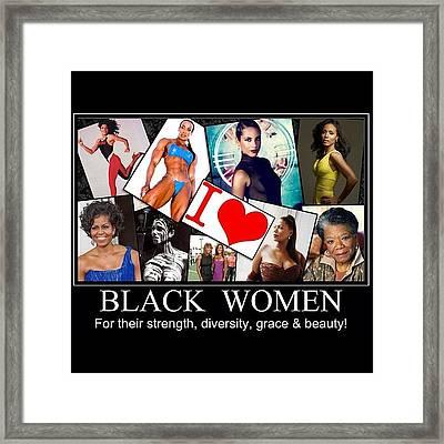 Beautiful Strong Black Women Framed Print