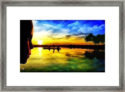 Beautiful Sunset Framed Print by Vidka Art