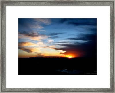 Beautiful Tanoan Spring Skies Framed Print by Aaron Burrows