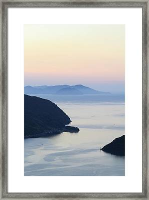 Beautiful View Of Sunset At Maurizia Framed Print