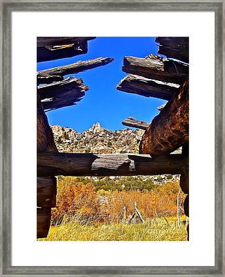 Beautiful View Framed Print by Tina Slee