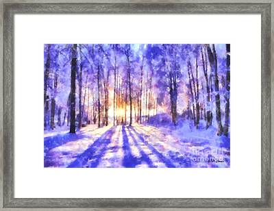Beautiful Winter Morning Framed Print by Elizabeth Coats