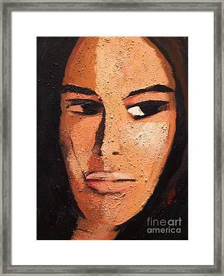 Beautiful Woman Framed Print by Lutz Baar