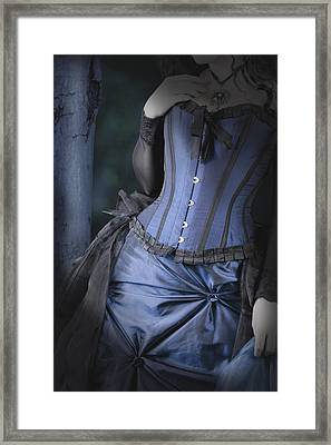Framed Print featuring the photograph Beautiful Young Woman In Forest by Ethiriel  Photography