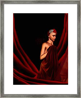 Beautifully Red Framed Print by Lourry Legarde