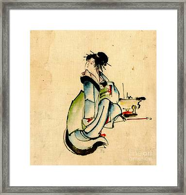 Beauty And Hibachi 1840 Framed Print by Padre Art