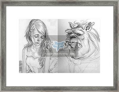 Beauty And The Beast Framed Print by Hossam Fox