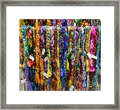 Beauty In Braided Roving Framed Print by Mary Zeman