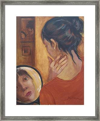 Framed Print featuring the painting Beauty by Jan Swaren