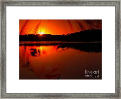 Framed Print featuring the photograph Beauty Looks Back by Clayton Bruster