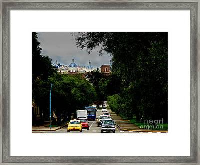 Beauty Of Avenida Solano In Cuenca Framed Print by Al Bourassa