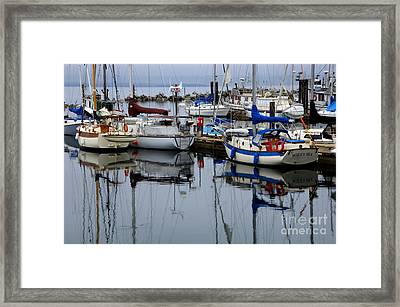 Beauty Of Boats Framed Print by Bob Christopher