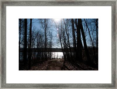 Beauty Of Light Framed Print by Herman Boodoo