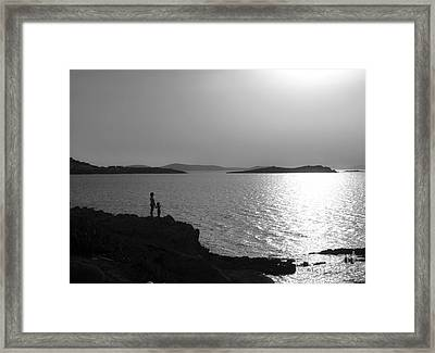 Beauty Of Mykonos Framed Print by Leslie Leda