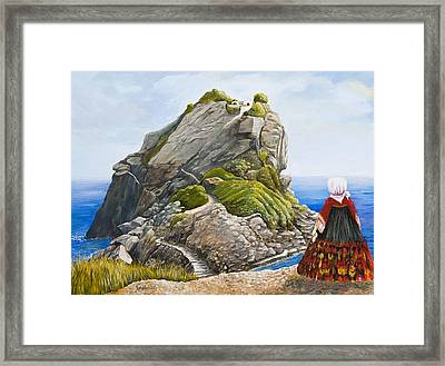 Beauty Of Skopelos Framed Print by Georgia Pistolis