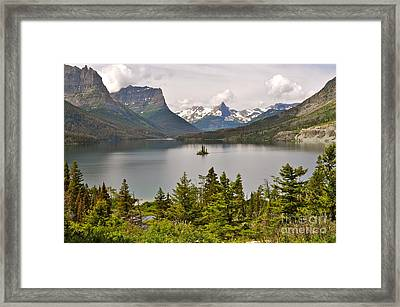 Framed Print featuring the photograph Beauty Of St. Mary's Lake by Johanne Peale