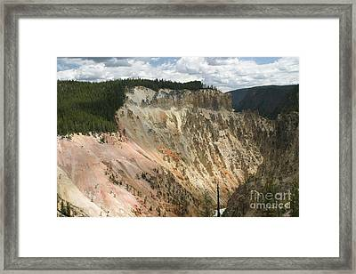 Framed Print featuring the photograph Beauty Of The Grand Canyon In Yellowstone by Living Color Photography Lorraine Lynch