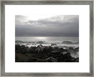Beauty Of The Storm Framed Print