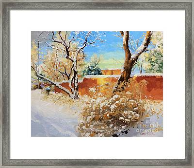 Beauty Of Winter Santa Fe Framed Print by Gary Kim