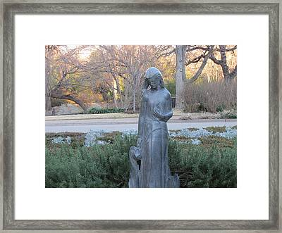 Beauty Surrounds Her Framed Print by Shawn Hughes