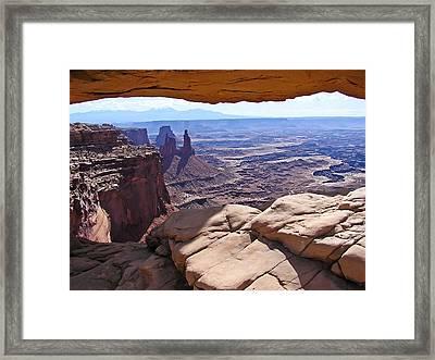 Beauty Through An Arch Framed Print