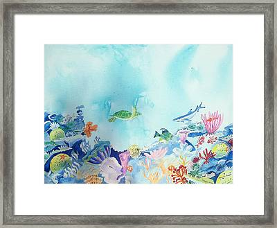 Beauty Under The Ocean Framed Print by Renate Pampel