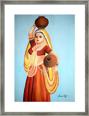 Beauty With Simplicity Framed Print by Tanmay Singh