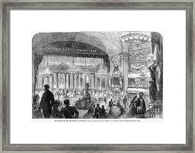 Beaux Arts Ball, 1861 Framed Print by Granger