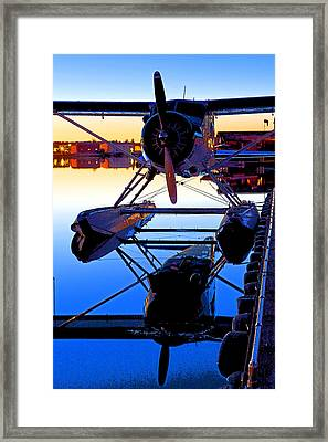 Beaver At Twilight- Abstract Framed Print