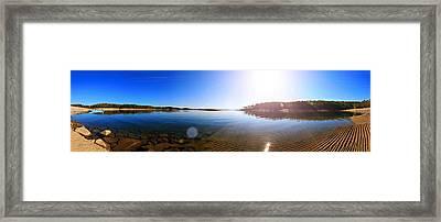 Beavers Bend State Park-lake- Oklahoma Panorama Framed Print by Douglas Barnard