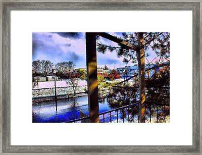 Framed Print featuring the mixed media Beaverton  H.s. Winter 2011 by Terence Morrissey