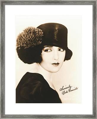 Bebe Daniels 1925 Framed Print by Padre Art