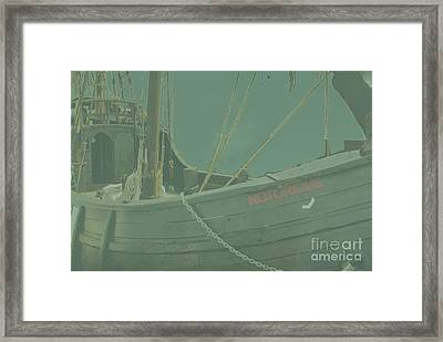 Becalmed In A Sea Mist Framed Print