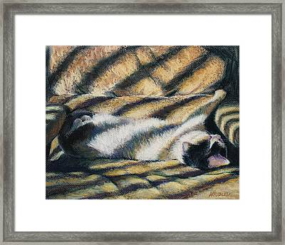 Because I Be A Cat Framed Print by Peggy Wrobleski